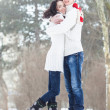 Stock Photo: Loving couple in winter