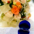 Two gold wedding rings - Stok fotoraf