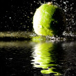 Two green apples — Stock Photo