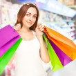 Picture of a beautiful woman with shopping bags — Foto Stock