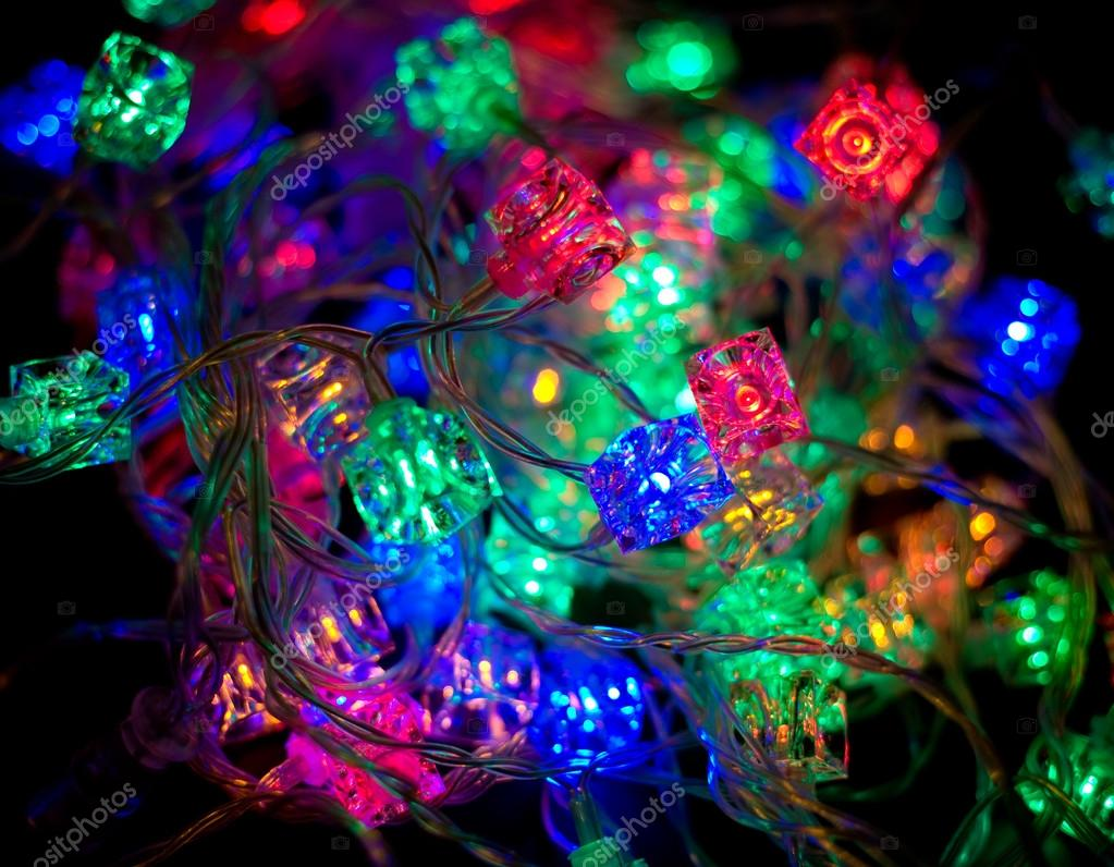 Colorful garland of new year tree  Stock Photo #13175067