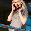 Woman calling by phone — Stock Photo #15330991