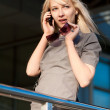 Stock Photo: Woman calling by phone