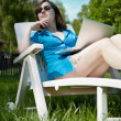 Beautiful businesswoman resting — Stock Photo