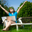 Woman enjoying the sun — Stock Photo