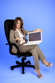 Young businesswoman in costume — Foto de Stock