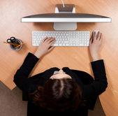 Mulher no local de trabalho — Foto Stock
