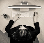 Woman at the work place — Stock Photo