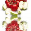 Apples and tomatoes - Stock Photo