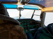 Picture of a light airplane cockpit — Stock Photo