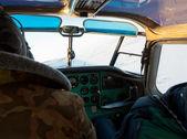 Foto de la cabina de un avión ligero — Foto de Stock