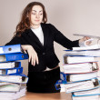 Womwith tons of folders — Stock Photo #20023039