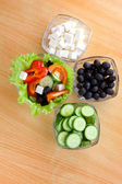 Picture of four plates with vegetables — 图库照片