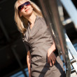 Businesswoman outdoors - Stockfoto
