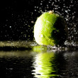 Stock Photo: Lime under water jets