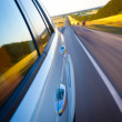 Road with motion blur — Stock Photo