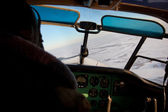 Picture of a light airplane cockpit — Stock fotografie
