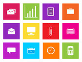 Set of business icons. Vector illustration. — Stock Photo