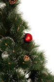 Neujahr-baum mit ball isoliert — Stockfoto