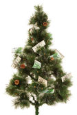 Picture of fir-tree with a lot of money — Stock Photo