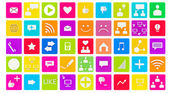3d set of social media icons — Stock Photo