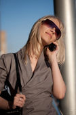Beautiful woman with cellphone — Foto de Stock