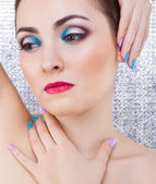 Portrait of beautiful woman with make-up — Stok fotoğraf