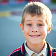 Portrait of a cute schoolboy — Stock Photo
