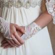 Bride's hands — Stock Photo