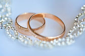 Beautiful golden rings — Stock Photo