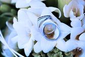 Krásné zlaté prsteny — Stock fotografie