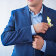 Groom is preparing for a wedding celebration — Stock Photo