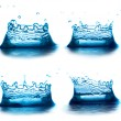 Set of water splashes like crown. isolated — Stock Photo