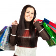 Shopping. Beautiful Happy Girl with Shopping Bags. — Stock Photo #18236525