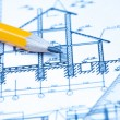 Stock Photo: Engineering and architecture drawings