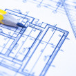 Engineering and architecture drawings — Stock Photo