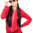 Woman with sunglases — Stock Photo
