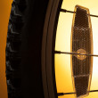 Bicycle tire on the orange — Stock Photo