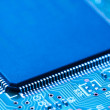 Close-up of electronic circuit board with processor — Stock Photo #22919720