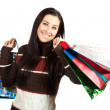 Stock Photo: Beautiful Happy Girl with Shopping Bags.