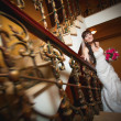 Bride in the classic interior — Photo