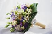 Wedding bouquet on the white — Stock Photo