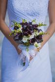 Beautiful bouquet in the the bride's hands — Zdjęcie stockowe
