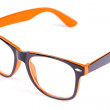 Black and orange Eye Glasses Isolated — Stock Photo