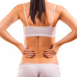Stock Photo: Female body with back inflammation