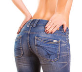 Sexy woman Booty in blue jean — Stock Photo