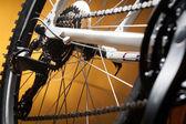 Desviador, piñones y viejo buje trasero bicicleta de carretera — Foto de Stock