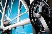 Road bicycle rear hub, sprockets and derailleur — Foto de Stock