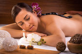 Beautiful  woman in a spa salon — Stock Photo