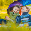 Happy kids have fun in outdoors park — Stock Photo #45759601